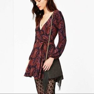 Urban Outfitters Ecote Fall Paisley Wrap Dress NWT